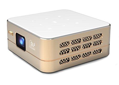 TecTecTec Pico Android Multimedia Projektor Wi-Fi VPRO1 - HD Ultra-Kompakte Projektor - WiFi, Bluetooth, HDMI - Tragbarer Home Cinema