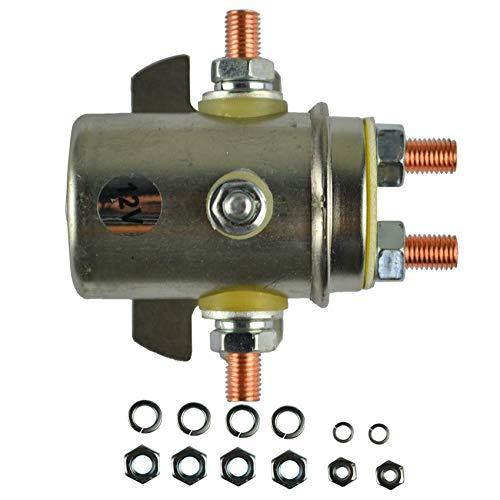 XFCNOI, El Interruptor de relé Nueva solenoide de 12 voltios Cabe for el Prestolite y Ramsey Torno eléctrico del Carro de Golf for Servicio Continuo Aislante 5 Terminal (Color : LY1006 2PCS)