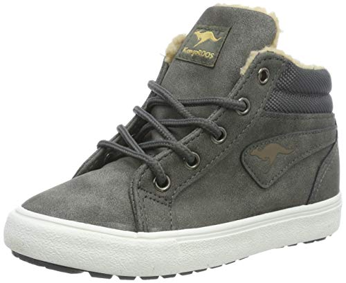 KangaROOS Unisex-Kinder KaVu I Hohe Sneaker, Grau (Dk Grey/Sand 211), 40 EU