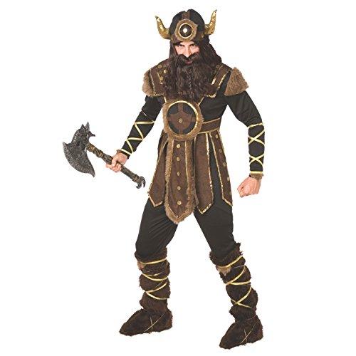 Morph Traje Vikingo para Hombre Traje histórico de Calidad para Guerrero nórdico Valiente para Hombres - Grande (42-44 Pulgadas / 107-112 cm Pecho)