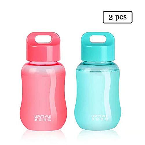 JILIGUALA Mini Bottles, Plastic, voor reizen, sporten, melk, koffie, thea, juice, 180 ml