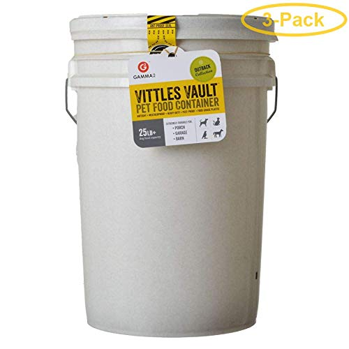 New Gamma2 Vittles Vault Airtight Pet Food Container 20-25 lbs - Pack of 3