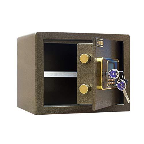 AMRT Kabinettsafes Hoch All Steel Anti-Diebstahl-Mini Safe Elektronischer Passwort Safe Home-Wand für den Einsatz zu Hause oder im Büro (Color : Brown, Size : One Size)