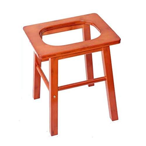 FJIE Houten douchebank-zitje, toilettafel voor oudere zwangere vrouwen, 37 x 29 x 40 cm
