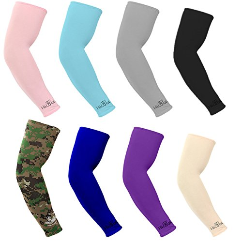 KMOOL Compression Arm Sleeves for Men,Arm Sleeves for Women,Basketball Arm Sleeves for Men Uv Protection Cooling Arm Sleeves,Forearm Sleeve,Arm Coverings Sleeves,Uv Arm Sleeves,Arm Covers 8 Pairs