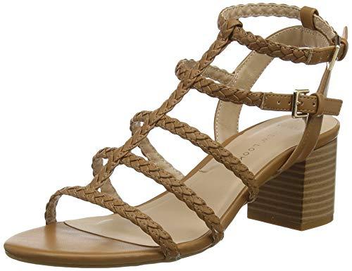 New Look Wide Foot Plait, Sandalia con Pulsera para Mujer