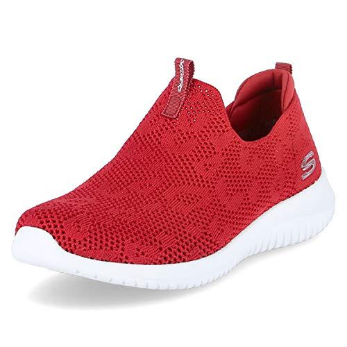 Skechers Ultra Flex - Zapatillas deportivas para mujer, color Rojo, talla 38.5 EU