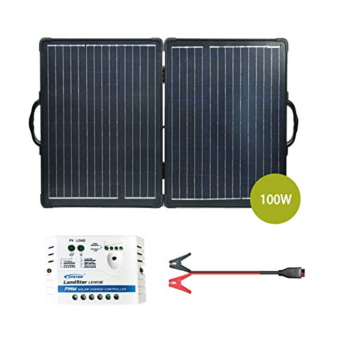 Newpowa 100W Ultra Lightweight Folding Panels with Charge Controller and Wiring RV,Camping,Boat