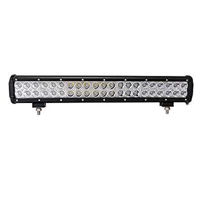 "Northpole Light 20"" 126W Led light Bar Waterproof Cree Spot Flood Combo LED Driving Fog Light bar with Mounting Bracket for Off Road, Truck, Car, ATV, SUV, Jeep"