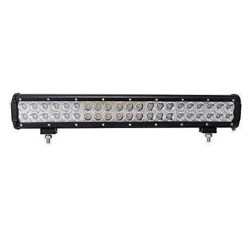 Northpole Light 20' 126W Led light Bar Waterproof Cree Spot Flood Combo LED Driving Fog Light bar with Mounting Bracket for Off Road, Truck, Car, ATV, SUV, Jeep