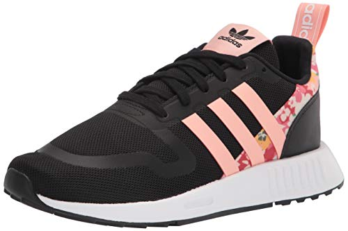 adidas Originals Smooth Runner Sneaker, Black/Pink/White, 13.5 US Unisex Little Kid
