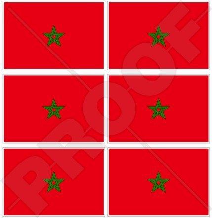 Marokko Marokkanische Flagge Afrika, afrikanischen 40mm (40,6cm) Mobile Handy Vinyl Mini Sticker, Aufkleber X6