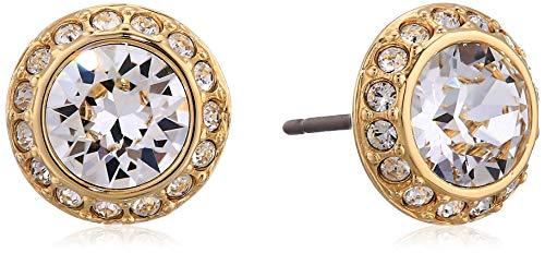 Swarovski Pendientes Crystal Angelic, tono dorado