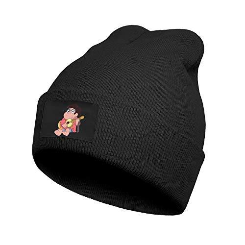 JIOJSDS Man Womens Kids Knit Caps Steven-Universe-Playing-Guitar- Beanie Hat Slouchy Cartoon Skull Cap