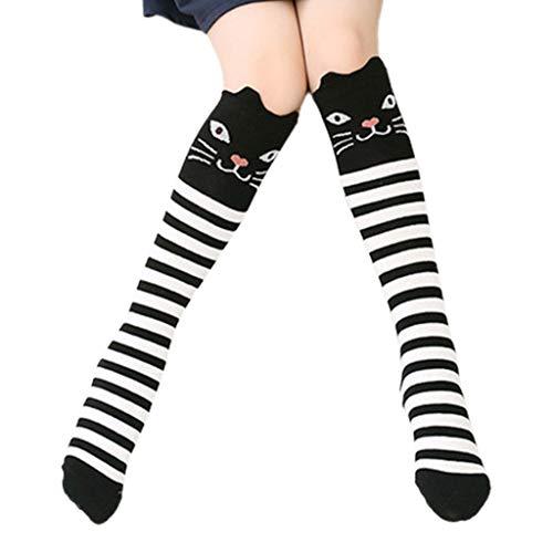 WOWOWO Baby Baumwollsocken Baumwolle Cartoon Kinder Baby Fuchs Socken Mit Bär Kniestrümpfen Lange Süße Infanti