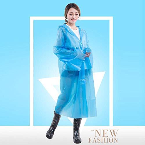 DIF regenjas, wegwerp outdoor reizen volwassen regenjas, transparante beschermende jas regenjas set