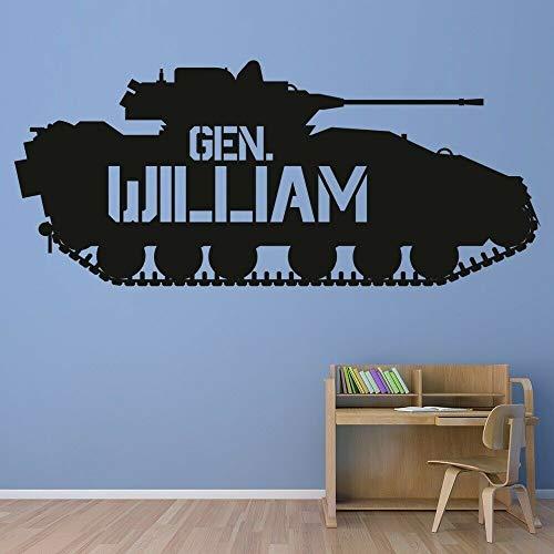 ganlanshu Tank wandtattoos für kinderzimmer Benutzerdefinierten Namen wandaufkleber Kindergarten Dekoration Vinyl Aufkleber Junge raumdekoration 43 cm x 102 cm