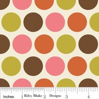 Fat Quarter Cuts Indian Summer Green 5 Fabric Fat Quarters by Zoe Pearn for Riley Blake 1 1//4 Yards Total