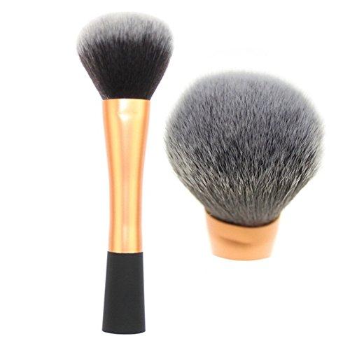 Pinceau de Maquillage 3 Pack En Aluminium Tube Petite Taille Ronde Ronde Blush Brosse Fondation Réparation Poudre Poudre Maquillage Brosse Beauté Maquillage Outils Or