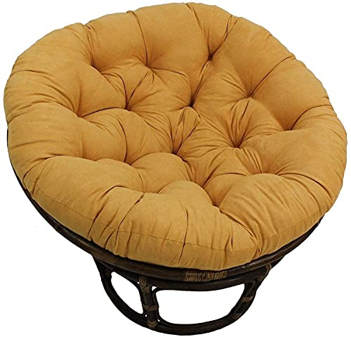 Meishikanka Papasan Cushion Chair Pads, 41Inch Needles Solid Microsuede Egg Chair Cushion, floor Ground Cushions Hanging Swing Chair Mats for Outdoor Indoor 41X41X4inch