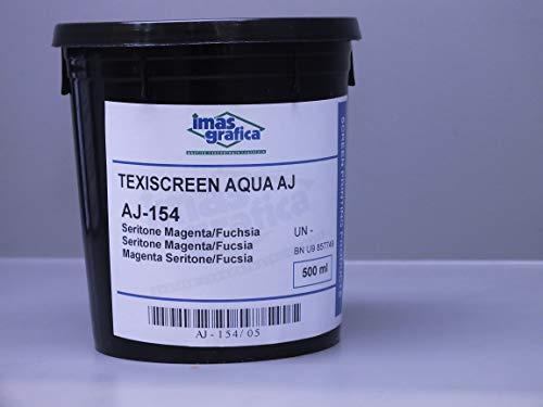 IMAS Grafica – Texiscreen AJ Sericol, Inchiostro per serigrafia a base d'acqua, 500 ml, per tessuti bianchi (Bianco per Miscela 021)