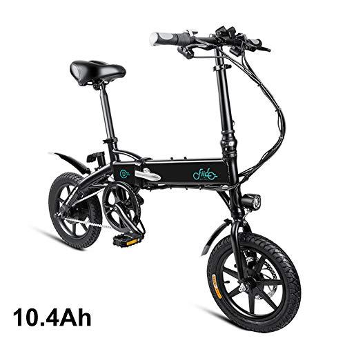 Gizayen Bicicletta Elettrica Pieghevole, Moped (Power Assist System) & Manpower Modes E-Bike, Anti-Slip Shockproof Adjustable Height Bicicletta a Pedalata Assistita for Unisex Adulto