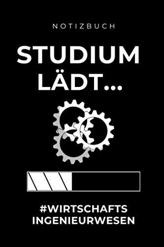 NOTIZBUCH STUDIUM LÄDT... #WIRTSCHAFTS INGENIEURWESEN: A5 Notizbuch 120 Seiten kariert | Geschenke für Ingenieure | Wirtschaftsingenieurwesen | ... Geschenkidee | Wirtschaft | Technik