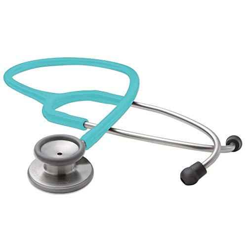 ADC Adscope 603TQ - Klinik Stethoskop mit einstellbarer AFD Technologie, Gesamtlänge 76cm, Hellblau