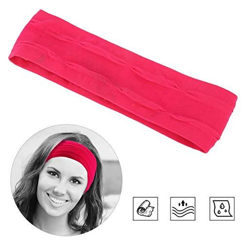 SALUTUYA Cómodas Bandas para el Cabello Que absorben el Sudor y se divierten, de Secado rápido(Rose Red)