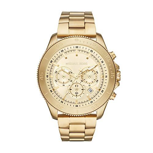 Michael Kors Herren Chronograph Quarz Uhr mit Edelstahl Armband MK8663