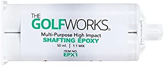 GolfWorks High Strength Epoxy Golf Club Head Shaft Adhesive 50ml