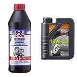 Liqui Moly 1030 Aceite Para El Cambio, Gl4, Sae, 85 W-90, 1 L + 20832 Aceite De Motor, Moto, 4T, 10W-40, Scooter Mb,Booklet, 1 L