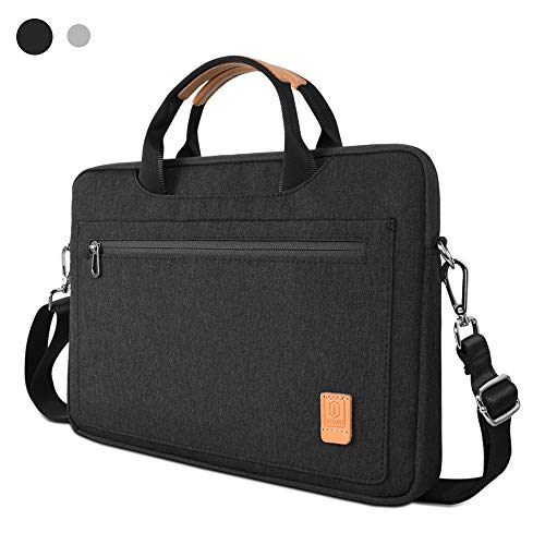WIWU Laptop Shoulder Bag for 13-13.3 MacBook Pro & Air,360 Protective Sleeve Carrying Case Fit 14 inch Surface Book HP Dell Lenovo Notebook(Black)
