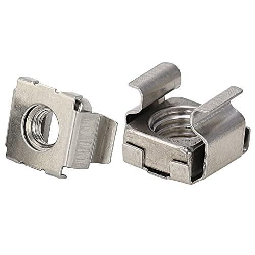 OPIOL QUALITY Lot de 10 écrous à cage pour M10 - Épaisseur de la tôle : 1,8-3,2 mm - En acier inoxydable A2 - Écrou à cage carrée.