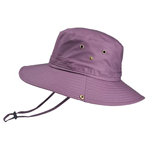 Aikowener Sombrero para el Sol Hombres Mujeres UPF 50+ Malla de protección UV al Aire Libre Sombrero de Verano Senderismo de Pesca Playa Plegable Safari Bush Sombreros Gorra (Size 1, Púrpura)