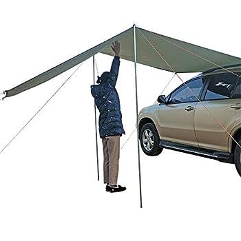 Auvent pour Camping Tente De Coffre De Voiture Auvent De Toit De Voiture Abri De Soleil De Voiture Toit Étanche Pare-Soleil Coupe-Vent pour Barbecue De Camping en Plein Air