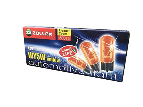 12V, WY5W yellow, Automotive Light, Code 60015