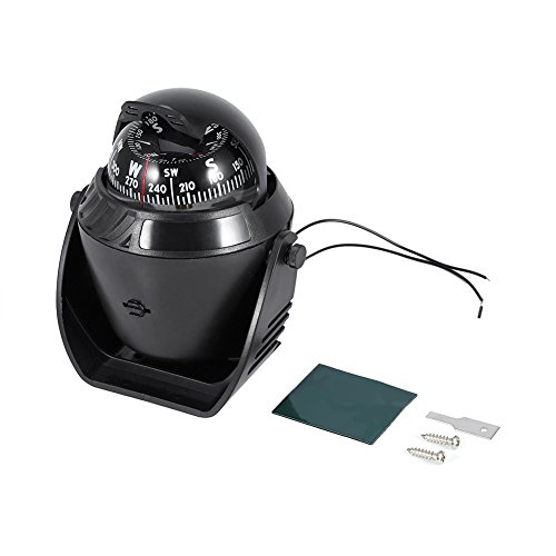 Tbest Boot Kompass Navigation Kugelkompass Bootskompass, Hochpräzise Auto Boot Marine Kompass Led Licht Schwenkkompass Navigation Elektronischer Kompass Für Marine Auto