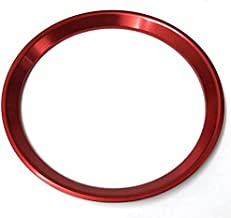 Bestlymood 1X Red Steering Wheel Center Logo Decoration Cover Ring Trim for Mercedes C E CLA GLC GLE Class 2015+