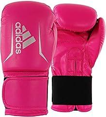 adidas Speed 50-Pink/Silber 12 oz adiSBG50 Guantes de Boxeo, Unisex Adulto, Rosa/Plateado, 355 ml