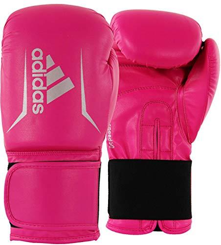 adidas Guantes de Boxeo Unisex Speed 50, Color Rosa y Plateado, 10 onzas; Adisbg50