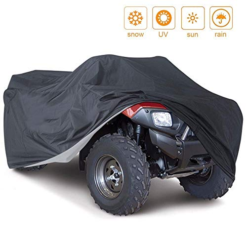 Universal 190t Impermeable Vehículo de Motocicleta Scooter Kart Motorbike Cubre Todo tamaño Camuflaje Negro para Todas Las Estaciones (Color : Black, Size : M)