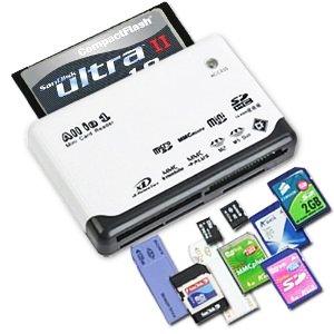 DIGIFLEX Lector de Tarjetas de Memoria USB 2.0 Todo en uno:
