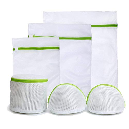 Wäschenetz 6 Stück Wäschesack wäschenetz für waschmaschine mit Reißverschluss für empfindliche Wäsche BH Unterwäsche Strumpfwaren