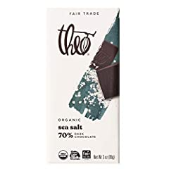 """SHIPS WITH COOL PACKS FOR WARM WEATHER: Includes 6 individually wrapped 3 ounce Theo Chocolate Sea Salt 70% Dark Chocolate Bars that will ship with cool packs if you are located in a warm weather area when you see """"Ships from and sold by Theo Chocola..."""