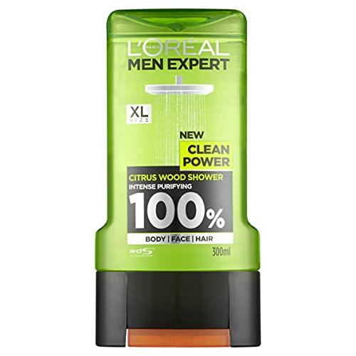 L'Oréal Men Expert Shower Gel Clean Power, 300ml