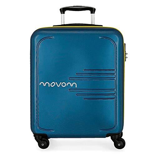Movom Flash Maleta de cabina Azul 39x55x20 cms Rígida ABS Cierre combinación 37L 2,7Kgs 4 Ruedas Equipaje de Mano