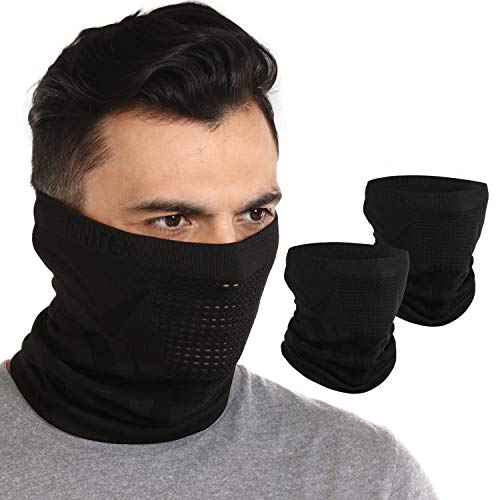IGNITEX Winter Face Mask & Neck Gaiter - Cold Weather Half Balaclava Style Seamless Ski Tube for Men & Women - Windproof Face Cover & Shield for Running, Skiing, Snowboarding & Motorcycling