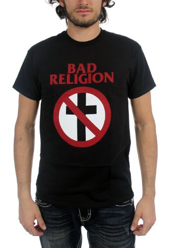 Bad Religion - Mens Classic Crossbuster T-Shirt, Small, Black