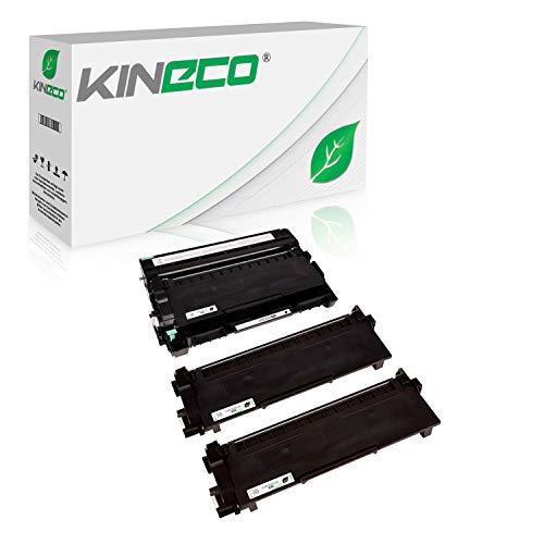 Kineco 2 Toner mit Trommel kompatibel für Brother TN-2320 TN-2310 DR-2300 für Brother HL-L2340DW HL-L2360DN MFC-L2700DW DCP-L2520DWG1 DCP-L2500D HL-L2360DN-Schwarz je 5.200 Seiten Trommel 12.000 Seiten